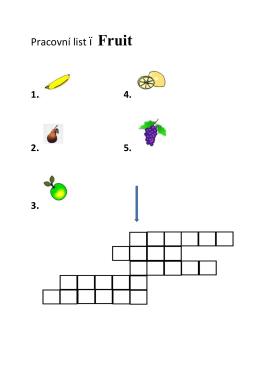 Pracovní list – Fruit
