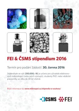 FEI & ČSMS stipendium 2016