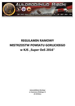Regulamin Ramowy Mistrzostw Powiatu Gorlickiego