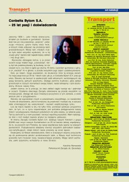 Conbelts Bytom S.A. – 25 lat pasji i doświadczenia