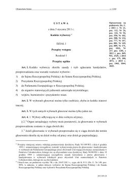 Kodeks wyborczy - Internetowy System Aktów Prawnych