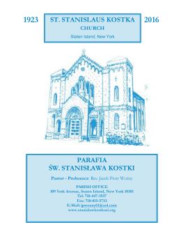 07 Lutego 2016 - St. Stanislaus Kostka Parish
