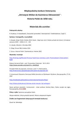 Historia Polski do 1058 roku. Materia