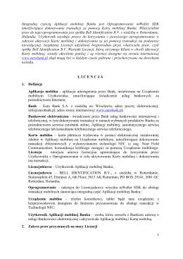 Licencja na oprogramowanie – karta mobilna