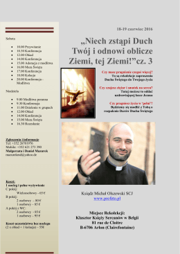 Rekolekcje 18–19 czerwca, Arlon