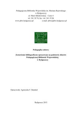 Pedagogika zabawy - Pedagogiczna Biblioteka Wojewódzka w