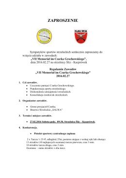 zaproszenie - Bractwo Strzeleckie SALWA w Wołominie