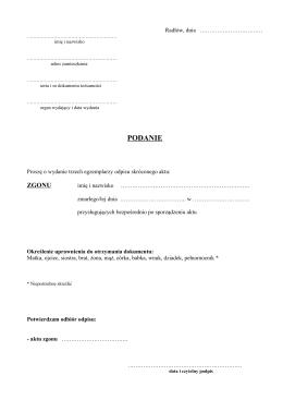 Wniosek PDF - Gmina Radłów