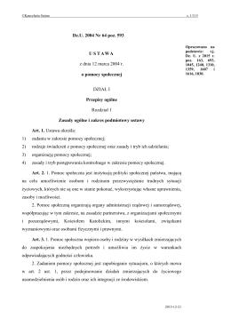 Dz. U. z 2015 r., poz - Internetowy System Aktów Prawnych