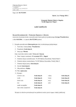 Prokuratura Rejonowa w Bytowie poszukuje Jerzego Waszkiewicza
