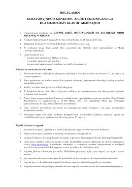 Regulamin konkursu - Zespół Szkół Budowlanych w Mielcu