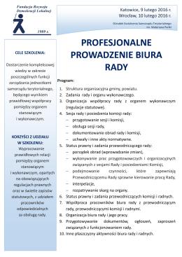 Program i karta zgłoszenia - Ośrodek Kształcenia Samorządu
