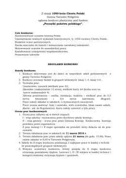 Z okazji 1050-lecia Chrztu Polski Gmina Tarnowo Podgórne ogłasza