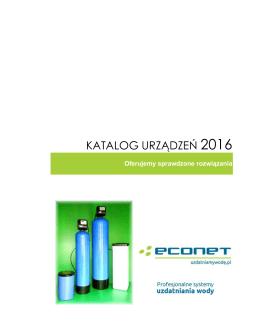 Katalog - ECONET Filtry do wody