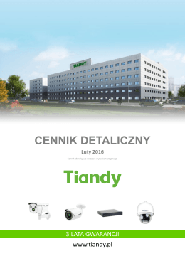 Cennik IP Tiandy