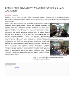 konsultacje powiatowe w ramach tworzenia mapy zagrożeń