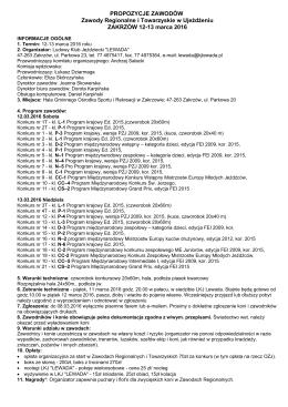 propozycje - OZJ Opole