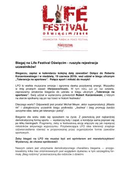 Pobierz w PDF - Life Festival Oświęcim