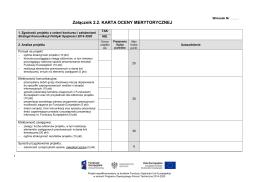 Karta oceny merytorycznej - Portal Funduszy Europejskich