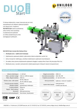 Etykieciarka automatyczna Duo Roto Start