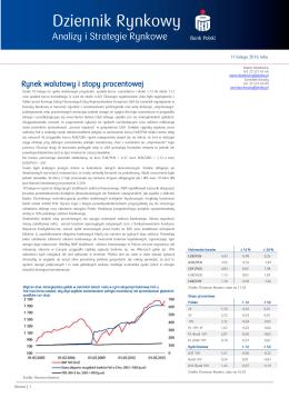 Komentarz dzienny Rynku Walutowego i Stopy