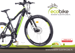 Pobierz katalog EcoBike 2016 - Rowery Elektryczne, Sklep