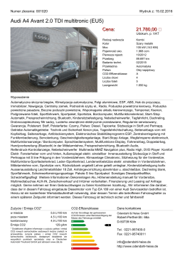 Audi A4 Avant 2.0 TDI (EU5) S line Navi GRA SHZ Teilleder