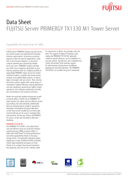 Data Sheet FUJITSU Server PRIMERGY TX1330 M1 Tower Server