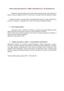 """Ulotka 2 - MDK """"Dom Harcerza"""""""