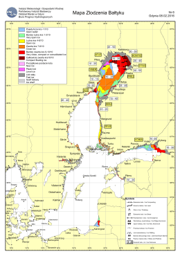 Mapa Zlodzenia Bałtyku