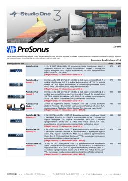 PreSonus - Audiostacja