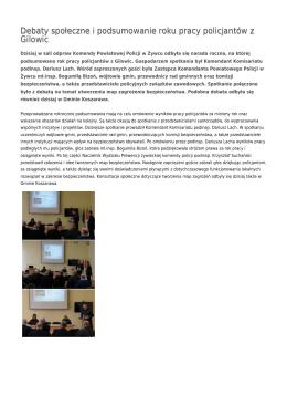 Debaty społeczne i podsumowanie roku pracy policjantów z Gilowic
