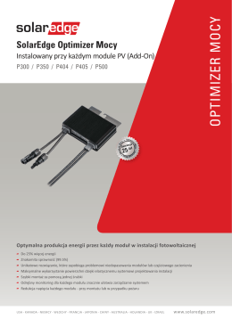 SolarEdge Optimizer Mocy