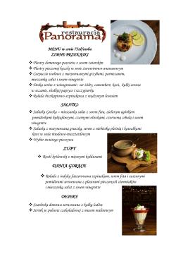 zupy dania gorące - Centrum Handlowe PANORAMA