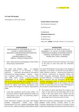zawiadomienie przekazywane na podstawie art. 69 ust. 1