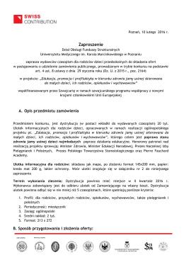 Zaproszenie - Uniwersytet Medyczny im. Karola Marcinkowskiego w