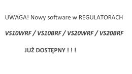 UWAGA! Nowy software w REGULATORACH - Salus