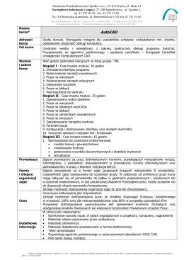 AutoCAD - Akademia Przedsiębiorczości