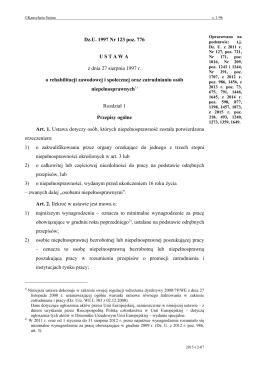 Ustawy o rehabilitacji zawodowej