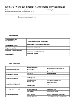 Generuj PDF - Komisja Wspólna Rządu i Samorządu Terytorialnego