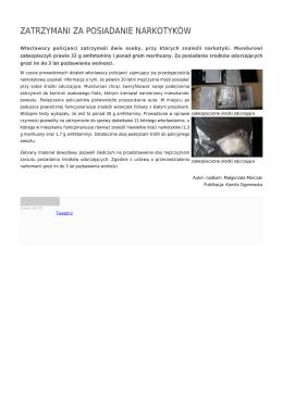 zatrzymani za posiadanie narkotyków - Policja Kujawsko