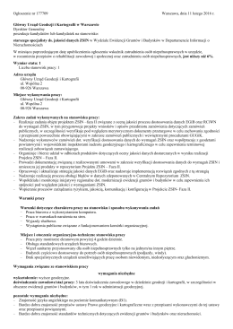 Ogłoszenie nr 177709 Warszawa, dnia 11 lutego 2016 r. Główny