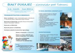 Biały Dunajec - zimowisko pod Tatrami