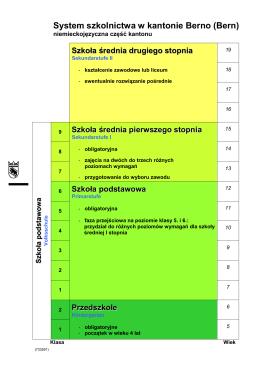 Grafik Bildungssystem im Kanton Bern (Polnisch)