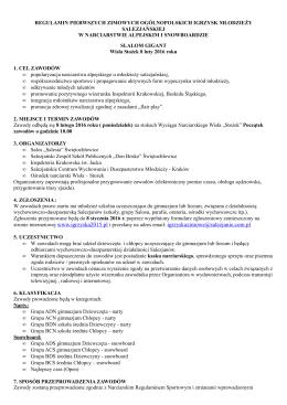 stronie internetowej www.igrzyska2015.pl i przesłany na adres email