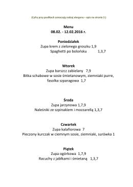 menu w tym tygodniu