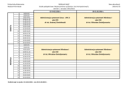 Zjazdy 9 i 10 - Wydział Informatyki PB