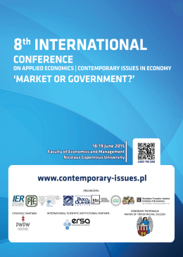 Program konferencji - Contemporary Issues in Economy