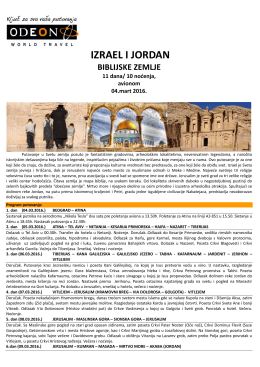 izrael i jordan - Odeon World Travel