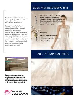 20 - 21 Februar 2016 - Banjalučki velesajam